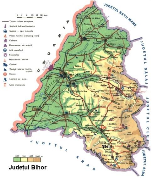 Bihor Map