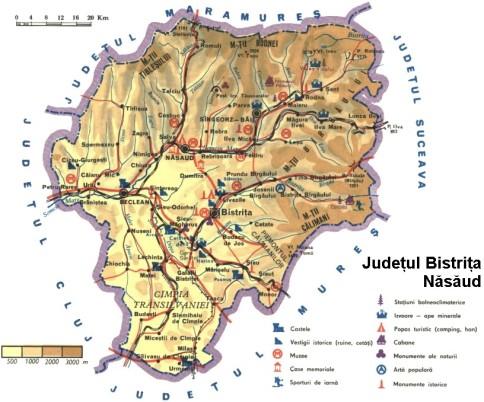 Bistrita Nasaud Map