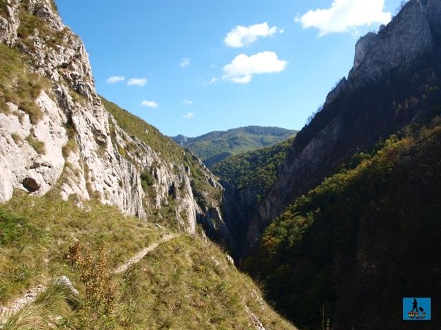 Hiking on Brâna Caprei Trail in Trascau Mountains, Alba County