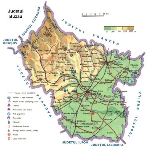 Buzau Map