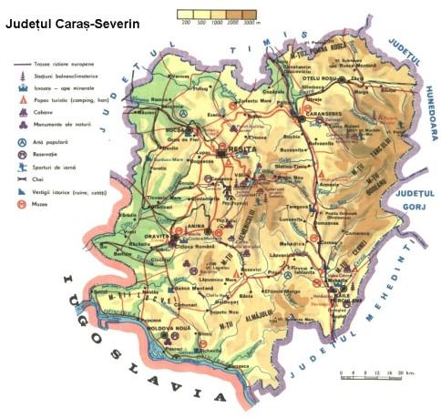 Caras Severin Map