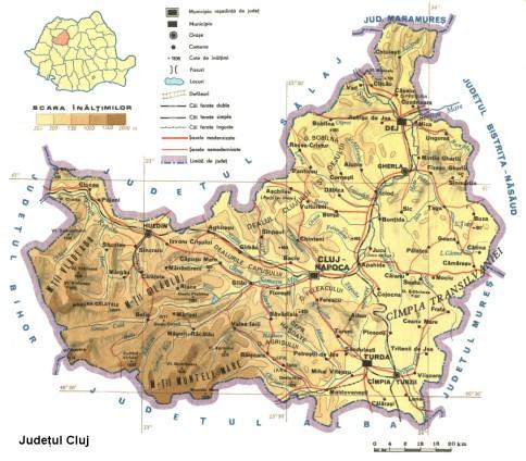 Cluj county Map