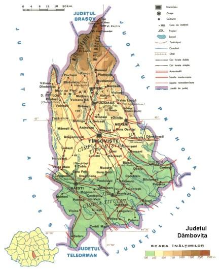 Dambovita Map