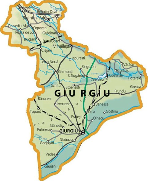 Giurgiu Map