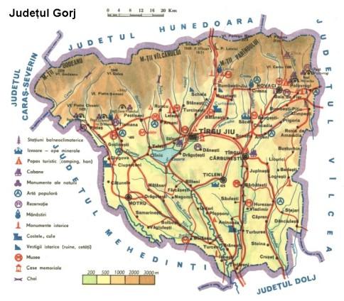 Gorj Map