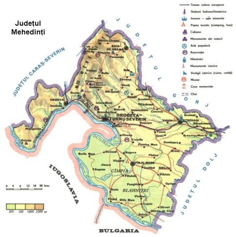 Mehedinti County Map