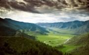 Panoramă deasupra Munţilor Altai, Kazahstan