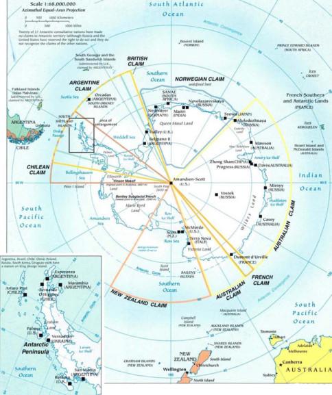 antarctic region map