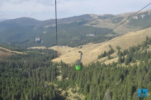 View from the cable car over Bucegi Mountains, Dambovita County