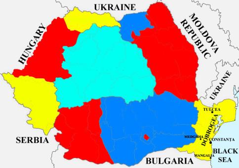 dobrogea region map