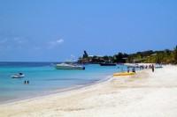 Tropical beach in Honduras