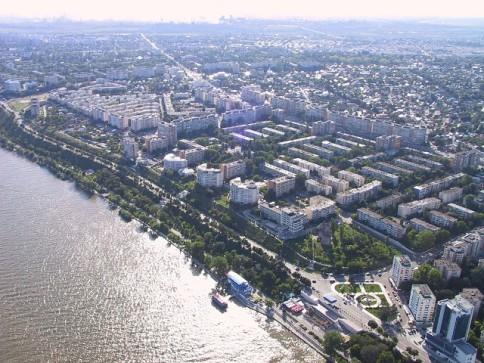Danube River and Galati City, Galati County