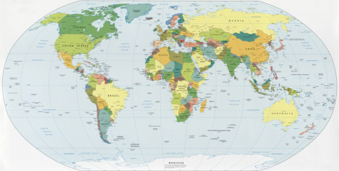 Our World With Its Continents And Regions Will Amaze You - World map 7 continents 4 oceans