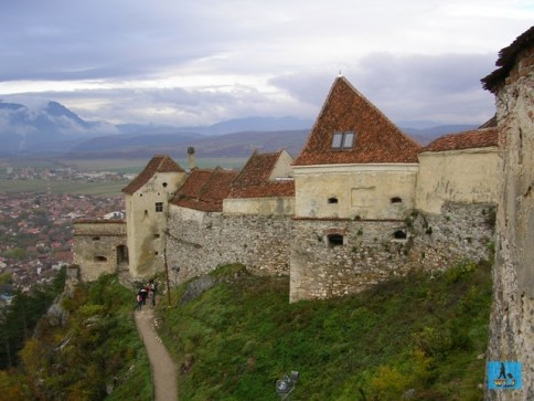 Old and beautiful Rasnov Citadel from Brasov County, Transylvania Region