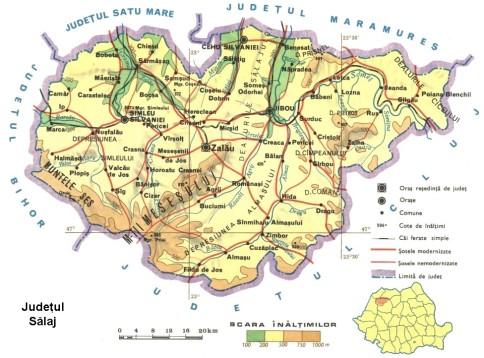 Salaj county Map