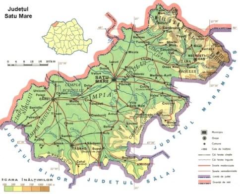 Satu Mare county Map