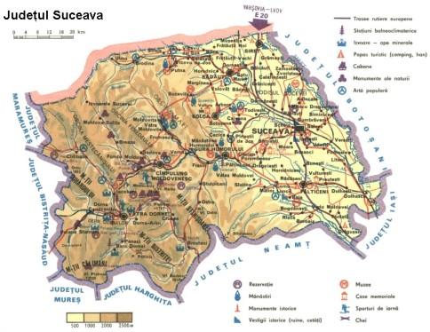 Suceava county Map