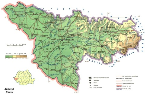 Timis county Map