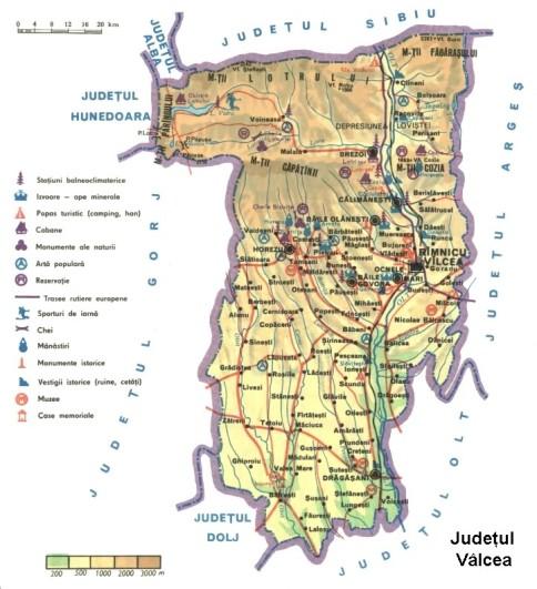 Valcea county Map