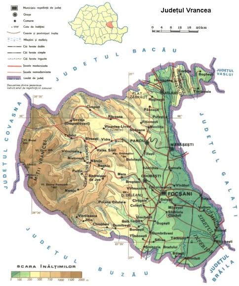 Vrancea county Map