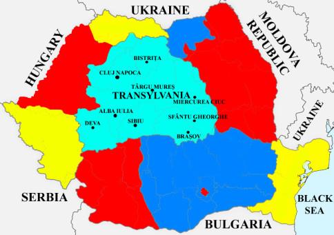 transylvania region map