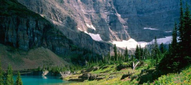 Glacier National Park hides an old track, the Old North Trail
