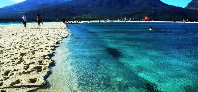 Camiguin Island is famous for its beautiful, sunny beaches
