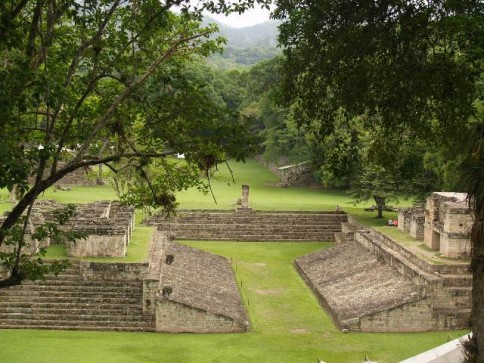 Mayan ruins from Copan with the famous Ballcourt
