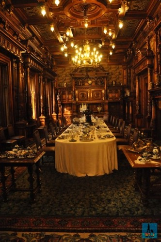The splendid Dining Room of Peles Castle
