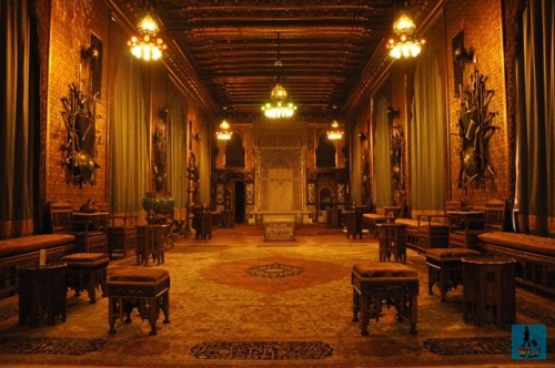 The Moorish Room of Peles Castle decorated with Oriental elements