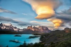 Apus de soare în Parcul Național Torres del Paine