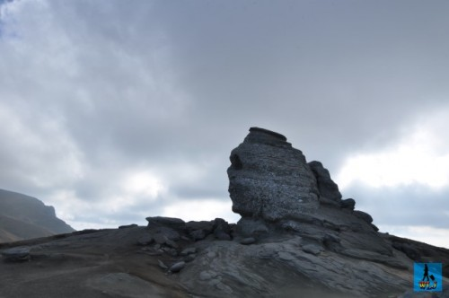 """Unique """"Sphinx"""" rock formation from Bucegi Natural Park, named after the Sphinx from Egypt"""