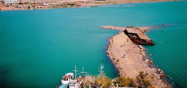 Lake Balkhash is the third largest lake in Kazakhstan situated in the south-eastern part