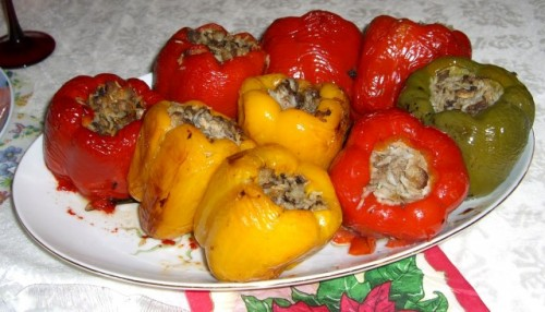 Last but not least, you can try filled peppers, a Romanian traditional food