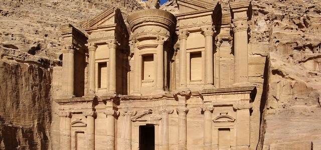 The ancient city of Petra in Jordan, also called Rose City has a unique architecture