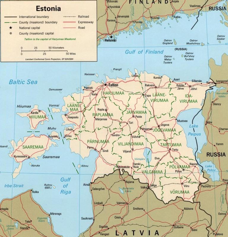 Estonia Map Wlj