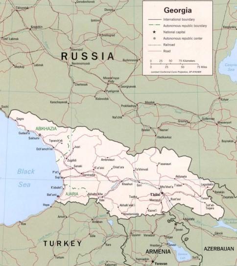 Georgia Oferă Asupra Munţilor Caucaz Panorame Uimitoare