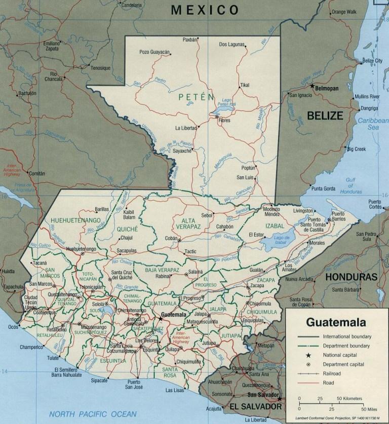 Guatemala Map Wlj