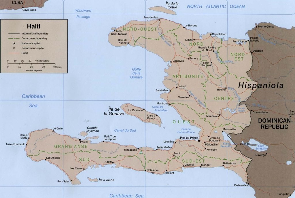Haiti Map Wlj