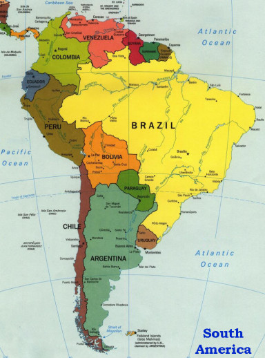 South America Has Many Tourist Attractions And Objectives