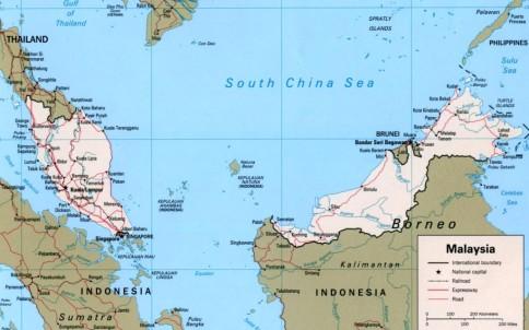 Malaysia Este O ţară Frumoasă Compusă Din Două Părţi De Uscat