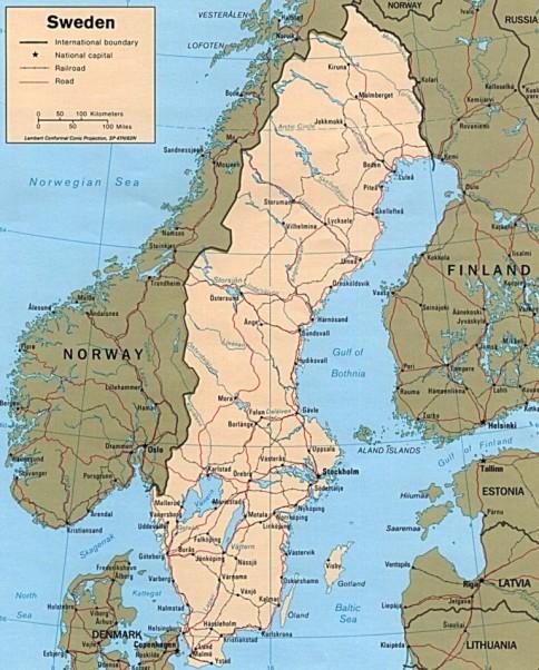 Suedia Este O țară Din Peninsula Scandinavă